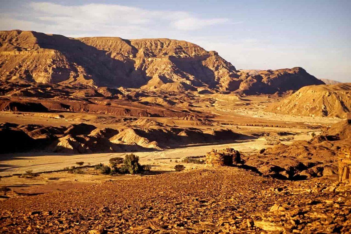 Pustynia Synaj. Egipt.